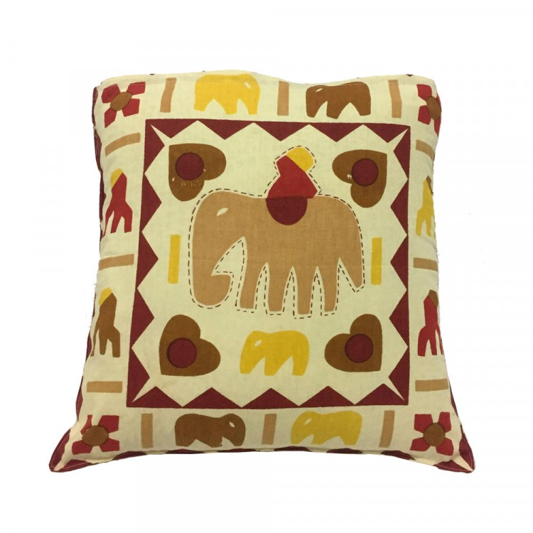 Almohadones decorativos estampada Funda Chica 42x42 Origen India